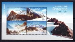 Australian Antarctic 2013 Mountains Minisheet CTO - Australian Antarctic Territory (AAT)
