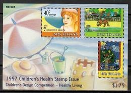 New Zealand 1997 Nueva Zelanda / Children's Health Paint Drawings MNH Salud Infantil Dibujos Infantiles / Cu11826  C5 - Infancia & Juventud