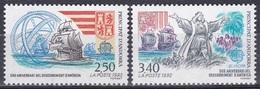 Andorra Französisch French 1992 Europa CEPT Geschichte Entdeckungen Amerika Kolumbus Columbus Schiffe, Mi. 437-8 ** - French Andorra