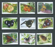 Tonga Niuafo'ou 2012 Butterfly Issue The 9 Different Values Each With Missing Or Mis-coloured  L Variety MNH - Tonga (1970-...)