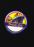 Marine / Cie Gle Transatlantique C.G.T. / Etiquette De Bagage, Paquebot France Au Havre - Titres De Transport