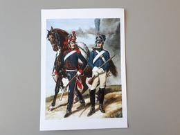 Affiche : Artilleur à Cheval Et Soldat Du Train Premier Empire  & - Other