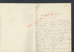 2 LETTRES DE Mr HENRI ROBERT AVOCAT A LA COUR ECRITE DE PARIS CARFOUR DU PONT DE SEINE N° 5 1890 : - Manuscrits