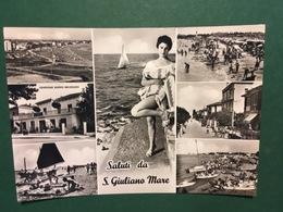 Cartolina Saluti Da San Giuliano Mare - Pensione Nuovo Belvedere - 1952 - Rimini