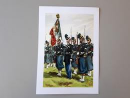 Affiche : Drapeau Et Sa Garde D'un Régiment D'infanterie Second Empire & - Books, Magazines  & Catalogs