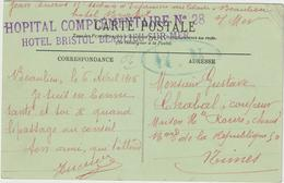 CPFM Hôpital Complémentaire N°28 Hôtel Bristol Beaulieu Sur Mer Alpes Maritimes 1915 - WW I