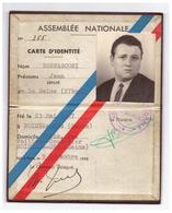 1958 - Carte De Député De La Seine De Jean Bernasconi (Noisy-le-Sec 1927 - Garches 1995) -  FRANCO DE PORT - Non Classés