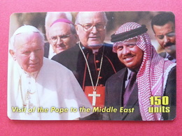 Pope Jean Paul II In The Middle East John Paul PApa Pape Papst 150u Yellow MINT - Characters