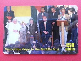 Pope Jean Paul II In The Middle East John Paul PApa Pape Papst 150u Yellow - Personen