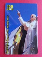 Pope Jean Paul II In The Middle East John Paul PApa Pape Papst 150u Yellow MINT - Personajes
