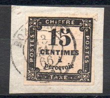 FRANCE - YT Taxe N° 3 Sur Fragment - Cote: 15,00 € - 1859-1955 Usati