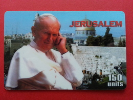 Pope Jean Paul II In The Middle East John Paul PApa Pape Papst JERUSALEM 1 Used - Personnages