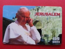 Pope Jean Paul II In The Middle East John Paul PApa Pape Papst JERUSALEM 2 Used - Personajes