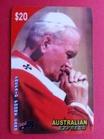 Pope Jean Paul II AUSTRALIAN EXPRESS John Paul PApa Pape Papst - Personnages
