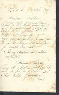 LETTRE DE Md CHAPILLOU CHEZ Md MILLIET EMPLOYÉ CHEMIN DE FER DE L ETAT PARIS N° 106 RUE DE LA JONQUIERE :  : - Manuscrits