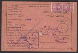 TARN ET GARONNE: Avis De Réception Avec 1.25FX2 Victor Hugo Oblt CàD 04 A5 MONTAUBAN R.P.> LONDRES - Marcophilie (Lettres)
