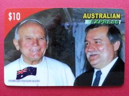 Pope Jean Paul II AUSTRALIAN EXPRESS LECH WALESA Pologne Polish John Paul PApa Pape Papst - Personnages