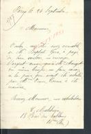 LETTRE DE Mr C MALCHIEN PARIS N° 15 ? RUE DES SABLONS  : - Manuscrits