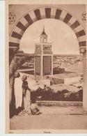 CPA - TUNIS - 1000 - L. T. L. - ANIMÉE - MINARET DE LA MOSQUÉE - Túnez