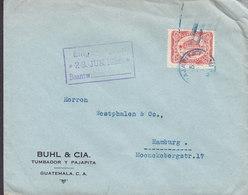 Guatemala BUHL & CIA. Tumbador Y Pajapita, GUATEMALA 1926 Cover Letra HAMBURG Germany - Guatemala