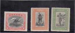 VV9 - PAPUA - 58 - 81 - 82 (1932...)* - Pirogue - Jeune Fille - Fils De Chef - - Papouasie-Nouvelle-Guinée