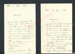 3 LETTRES DE Mr L RODE PARIS RUE LAURENT PICHAT N° 4   : - Manuscrits