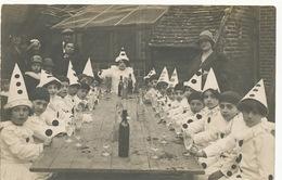 Belle Carte Photo Fete Enfants Costumés Carnaval Pierrots Limonade Photo Samuel Talbot Argent Sur Sauldre Cher - Carnaval