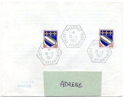 LOIRE ATLANTIQUE - Dépt N° 44 = VILLEPOT 1967 =  CACHET MANUEL HEXAGONAL Plein E8 RECETTE AUXILIAIRE RURALE - Manual Postmarks