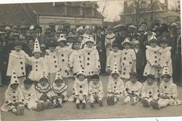 Belle Carte Photo Fete Enfants Costumés Carnaval Pierrots Clown  Photo Samuel Talbot Argent Sur Sauldre Cher - Carnaval