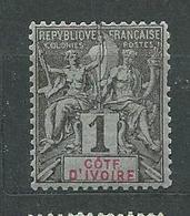 COTE D'IVOIRE  N° 1  *  TB - Costa De Marfil (1892-1944)