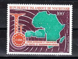 Mauritania - 1969. Telecomi Interafricane. Map Of Africa. Wholefrican Telecommunications. MNH - Telecom