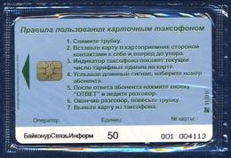 KAZAKHSTAN BAIKONUR SVYAZINFORM RUSSIAN SPACEPORT BAIKONUR 50 UNITS CHIP PHONECARD TELECARTE MINT SEALED - Kazakhstan