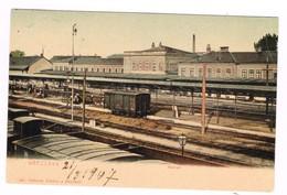 Breclava Breclav Moldavia Repubblica Ceca  Slovacchia Stazione Station Train Treno Gare 1907 - Slovaquie