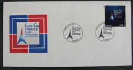 FRANCE - 2011 - PJ 4575 - G20 G8 - FRANCE - FDC