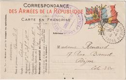 CPFM Dépots D'éclopés Frasnes Le Château Haute Saône 1915 - Postmark Collection (Covers)