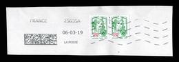 France 2018: N° 5235 En Paire Obl. Sur Fragment - TB - 2013-... Marianne Of Ciappa-Kawena