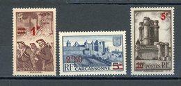 FRANCE - DIVERS - N° Yvert 489+490+491 ** - France