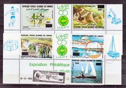 Comores  503/506, PA 277/284 Surchargés 1989 Neuf ** MNH Sin Charmela - Isole Comore (1975-...)
