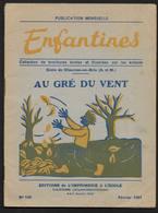 """"""" Au Gré Du Vent """" Colllection Enfantines N° 160 Editions à Cannes Brochure Illustrée Ecole De Chaume En Brie 1951 - Livres, BD, Revues"""