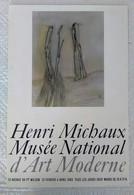 AFFICHE ANCIENNE ORIGINALE EXPOSITION HENRI MICHAUX 1965 Musée National D'Art Moderne - Affiches