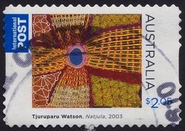 AUSTRALIA 2009 Aboriginal Art; Natjula/Tjuruparu Watson $2.05 INTERNATIONAL POST Self-adhesive/PnS Sc#3064- USED @O437 - 2000-09 Elizabeth II