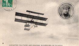 S1074 Cpa Manoeuvres De Picardie - Paulhan Sur Son Biplan Farman - Meetings