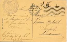 CP - Bruxelles A - 2 VIII 1919 En Franchise - Correspondance Privée ° Armée Belge - Oorlog 14-18