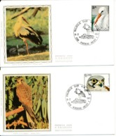 1652/554 4 FDC - Cigogne, ++ Oiseaux - 1971-80