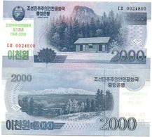 Korea North - 2000 Won 2018 UNC Comm. Lemberg-Zp - Corea Del Nord
