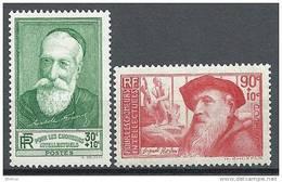 "FR YT 343 & 344   "" A. France & A. Rodin "" 1937 Neuf* - Unused Stamps"