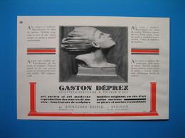 (1937) Sculpteur-Statuaire -- Éditeur D'Art - GASTON DÉPREZ - Boulevard Raspail - Avignon - Old Paper