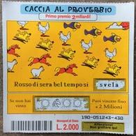 10.000 Lire Biglietto Vincente GRATTA E VINCI  - Caccia Al Proverbio - Biglietti Della Lotteria