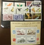 Norge  Michel Nr:  Jahrgang 1980  **MNH Postfrisch #4989 - Ganze Jahrgänge