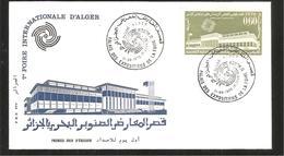 FDC  ALGERIE 1970 7 FOIRE  INTERNATIONALE D ALGER - Algérie (1962-...)